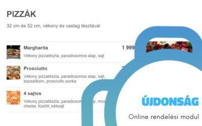Újdonság: online rendelési modul